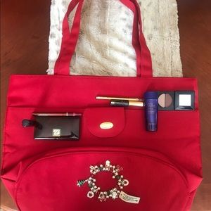 Estee' Lauder Large Tote with Makeup